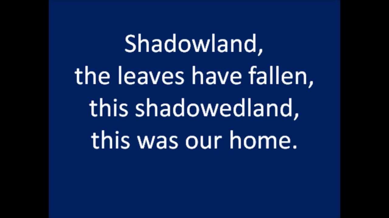 LION KING - Shadowland Lyrics | MetroLyrics
