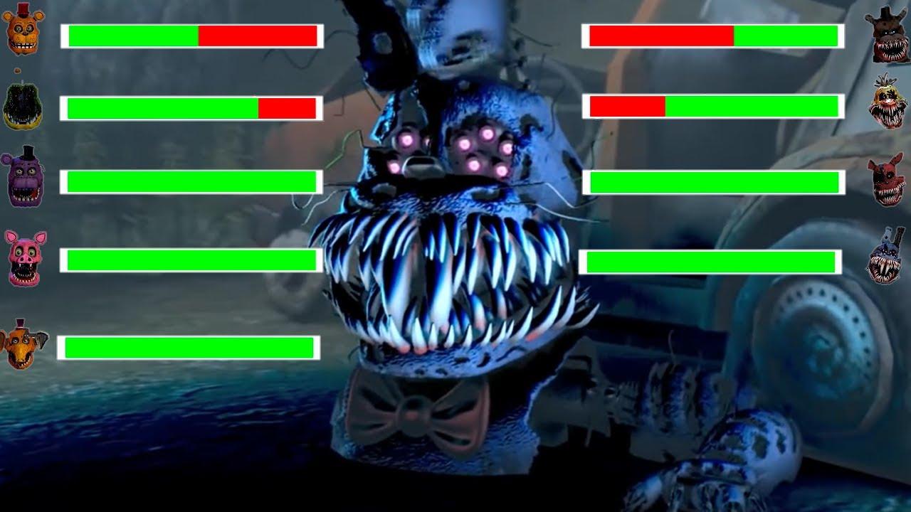 [SFM FNaF] Corrupted vs Siren Head WITH Healhbars