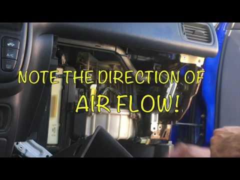 replace   honda crv cabin air filter youtube