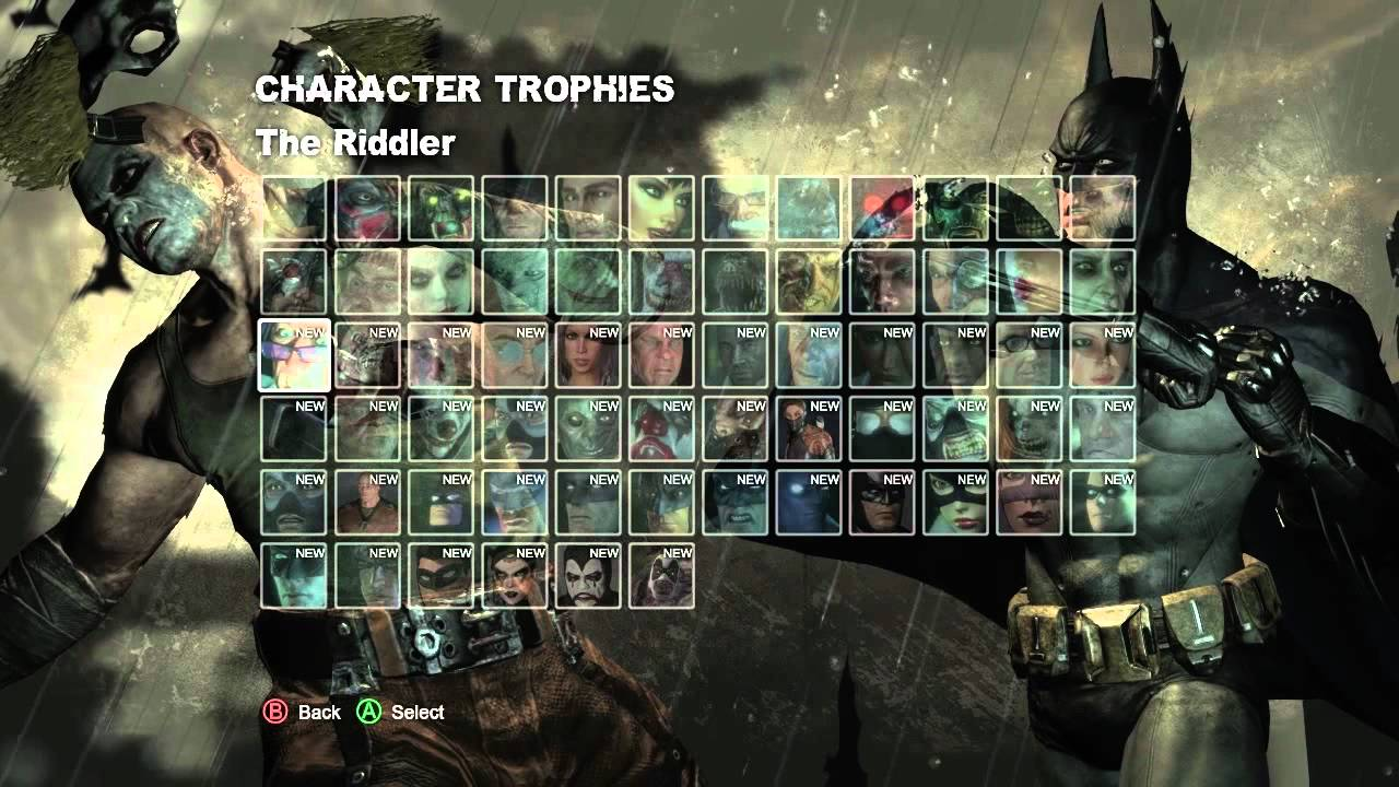Let's Play Batman: Arkham City 69 Character Trophies - YouTube
