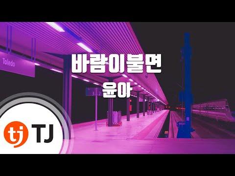 [TJ노래방] 바람이불면 - 윤아(소녀시대)(Yoon A) / TJ Karaoke