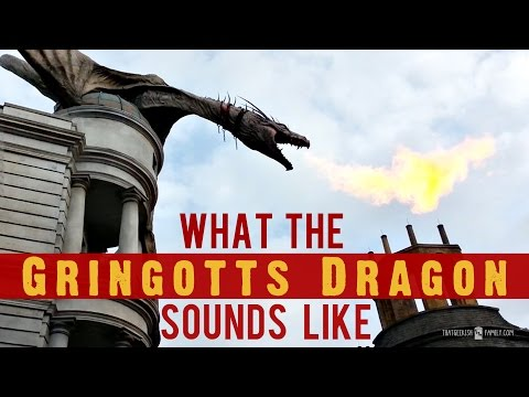 What the Gringotts Dragon Sounds Like at Wizarding World of Harry Potter