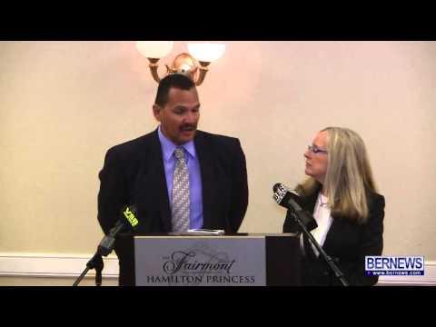 North Rock CEO Vicki Coelho and KeyTech CEO Lloyd Fray, Apr 29 2013