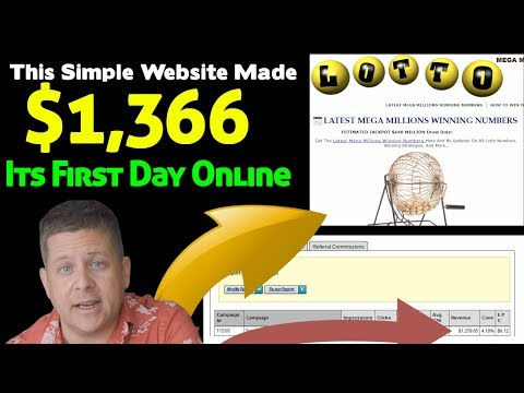 Simple Website Earns $1,366 Its First Day Online Bigger Profits With Affiliate Marketing