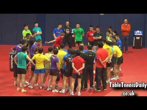 Азиатские тренировки китайские мастера Супер Настольный теннис China Table Tennis