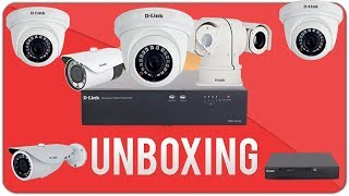 Unboxing d'link cctv | 4channel Dvr | Dome And Bullet Camers | HD camera| surveillance camera