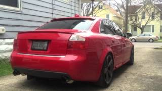 audi b6 s4 awe exhaust and catless downpipes