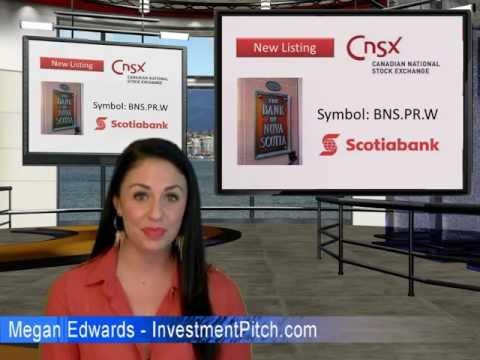 Bank of Nova Scotia (CNSX: BNS.PR.W) Video News Alert