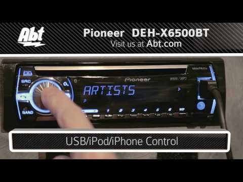Demo and Features of the Pioneer Car Stereo With Bluetooth - DEH-X6500BT