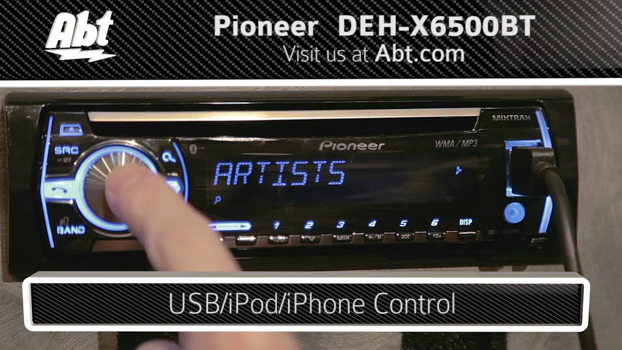 demo and features of the pioneer car stereo with bluetooth deh x6500bt youtube [ 1280 x 720 Pixel ]