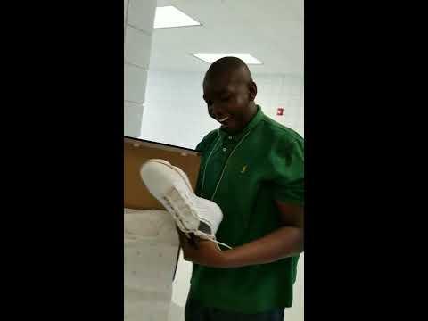Killeen ISD Shoemaker High School Junior donates items to a Freshman