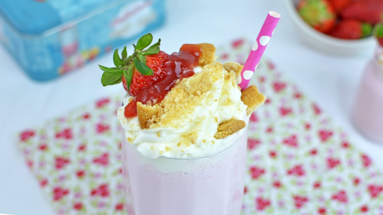Easy strawberry milkshake recipe with ice cream