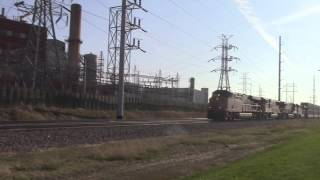 5 UP trains at C ST Cedar Rapids, IA