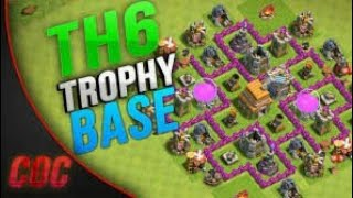 Clash Of Clans Town Hall 6 (TH6) Trophy/War Base (COC)