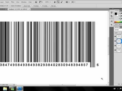 How To Make A Barcode In Photoshop CS4 - YouTube