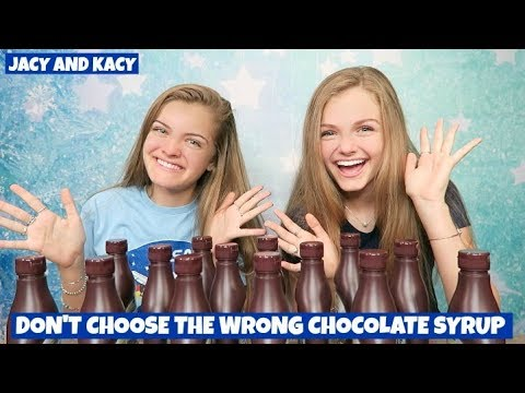 Don't Choose the Wrong Chocolate Syrup Slime Challenge ~ Jacy and Kacy