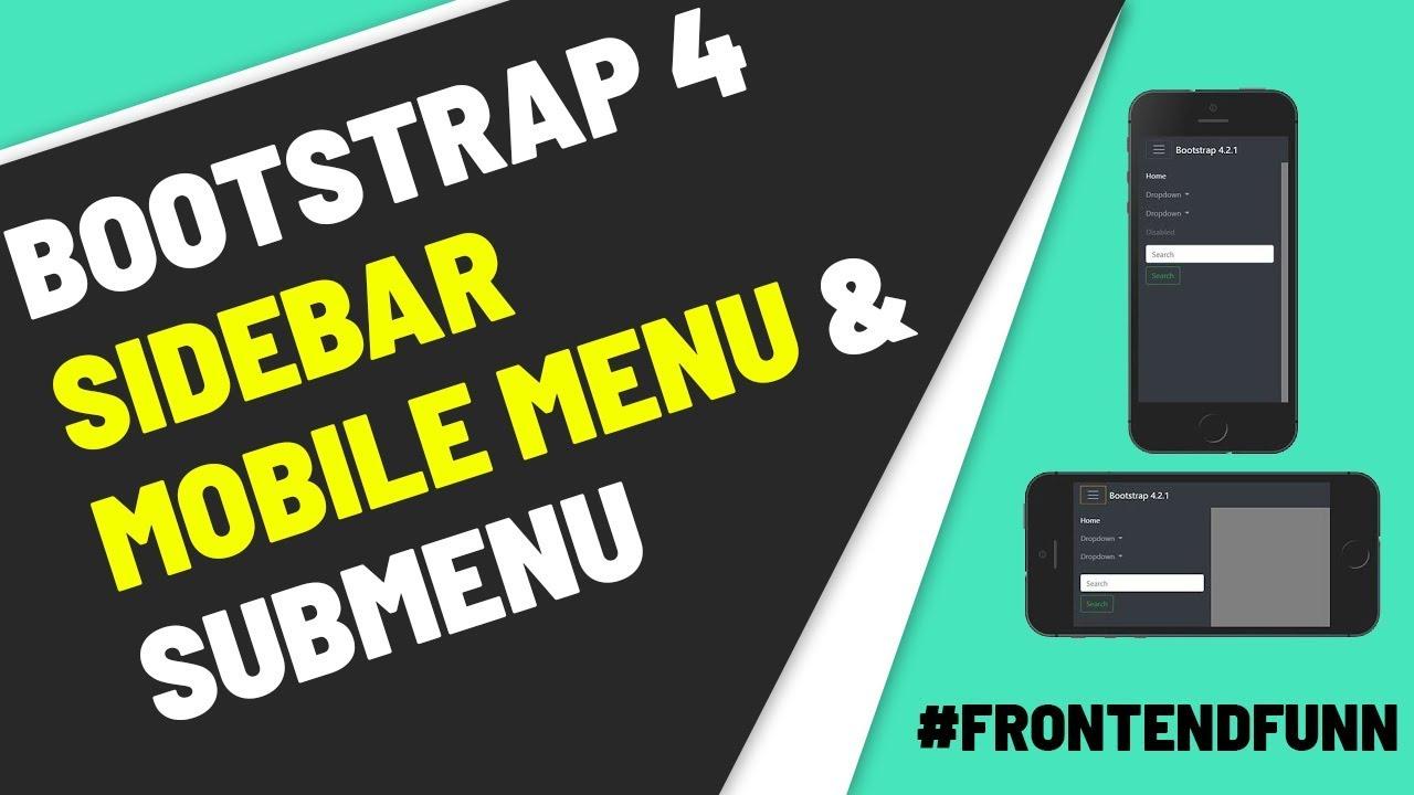 Смотреть Bootstrap Sidebar | Bootstrap 4 Sidebar Menu Responsive