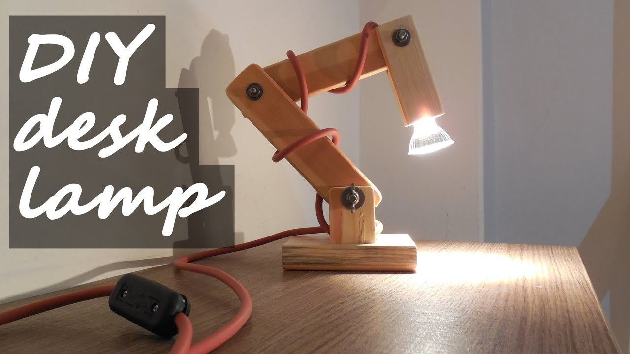 Diy Wooden Desk Lamp With Extra Weight