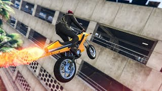 INSANE ROCKET BIKE STUNT! - (GTA 5 Stunts & Fails)