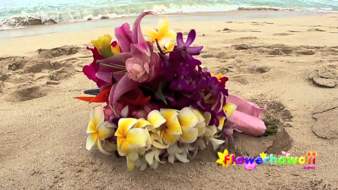 Tropical Hawaiian Wedding Bouquet Youtube