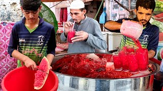 Refreshing Watermelon Juice   Suṁmer Street Drink   30/- Juice   Amazing Watermelon Cutting Skills