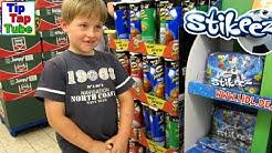 Super LIDL Shopping Fußball Stikeez einkaufen mit Mama und Papa TipTapTube Kinderkanal