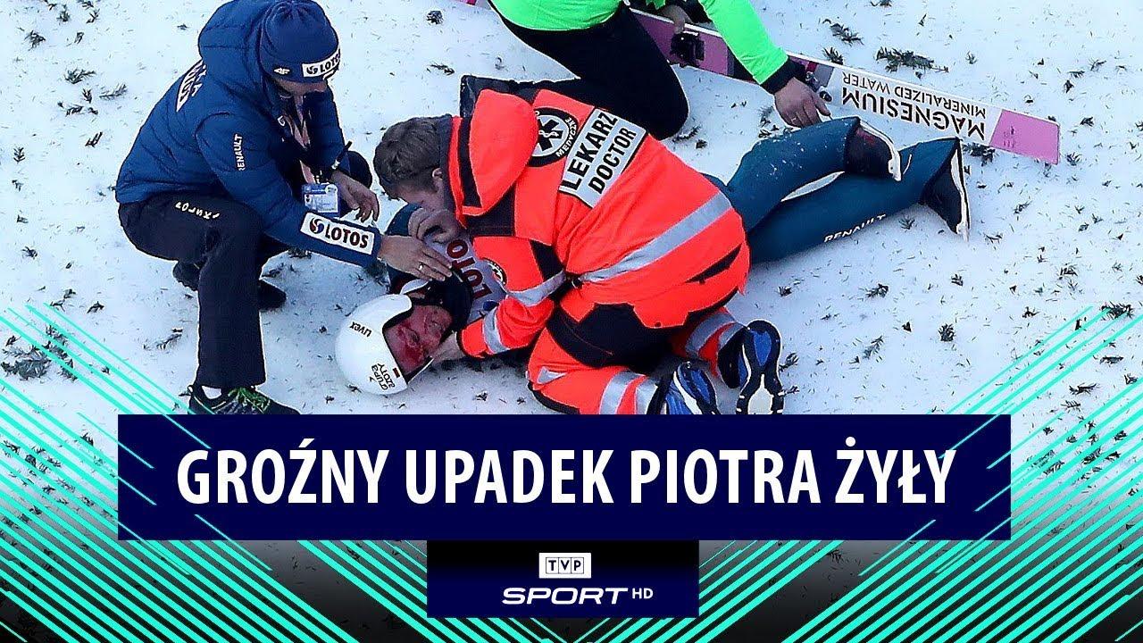 Upadek Piotra Żyły w Wiśle. Rozbita głowa skoczka!