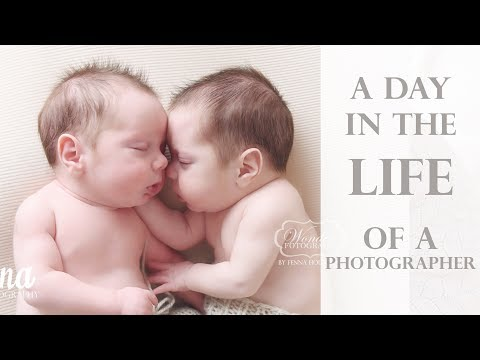 Day in the Life of a Photographer (Photographing Newborn Twins!)