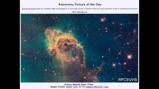 2015年 2月8日 「イータカリーナ星雲の塵の柱」-Astronomy Picture of the Day