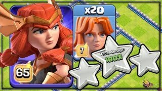 GEM to MAX and OP! Valkyrie Queen Skin ARMY in Clash of Clans!