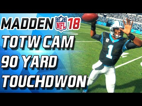 CAM NEWTON! 90 YARD TOUCHDOWN! WEEKEND LEAGUE - Madden 18 Ultimate Team