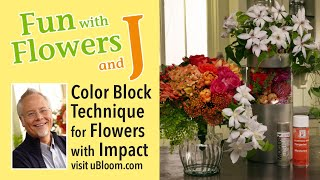 How to use color blocking in Flower arrangements!