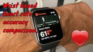 Is wrist based heart rate accurate?  Apple Watch vs. Garmin vs. Amazfit