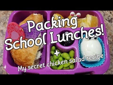 School Lunches! Week 2 school lunches...Watch me pack her lunch and talk way too much! 😂
