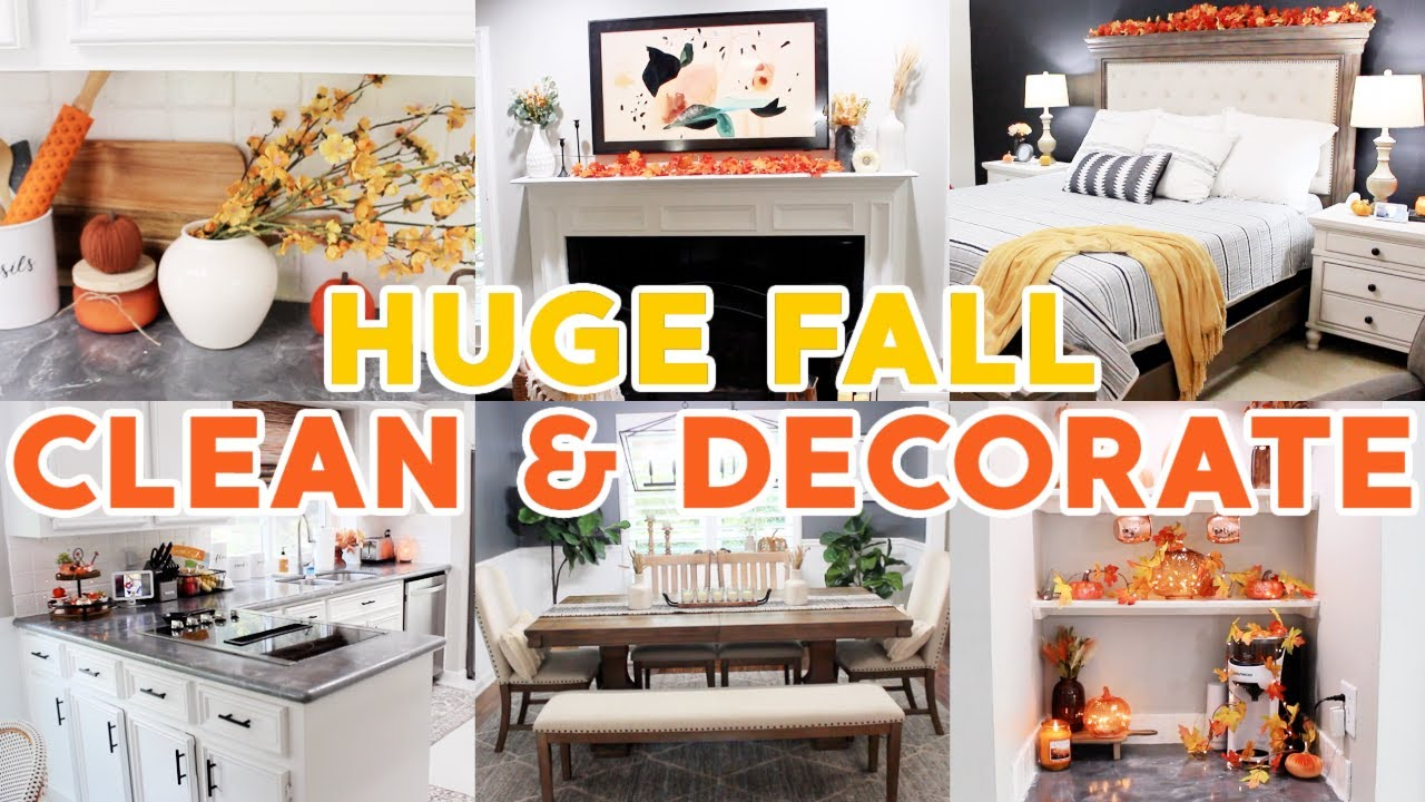 *HUGE* FALL CLEAN & DECORATE WITH ME 2021! ALL DAY SPEED CLEANING MOTIVATION ROUTINE!