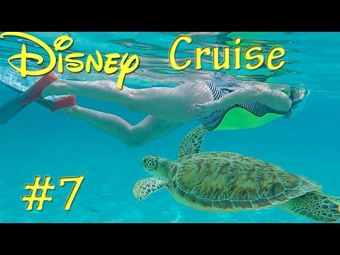 DISNEY FANTASY CRUISE - PT 7 Castaway Cay Snorkeling on Disney's Private Island! Sea Turtle!