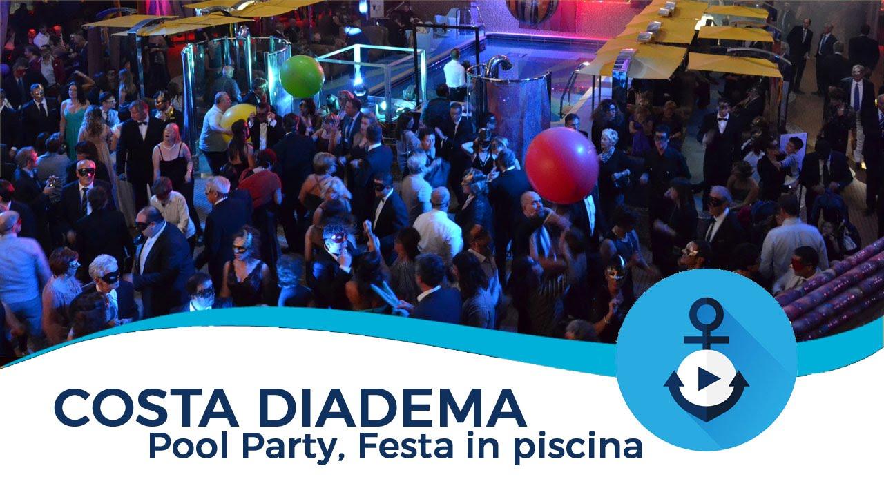 Costa diadema party festa in piscina youtube for Piscina party