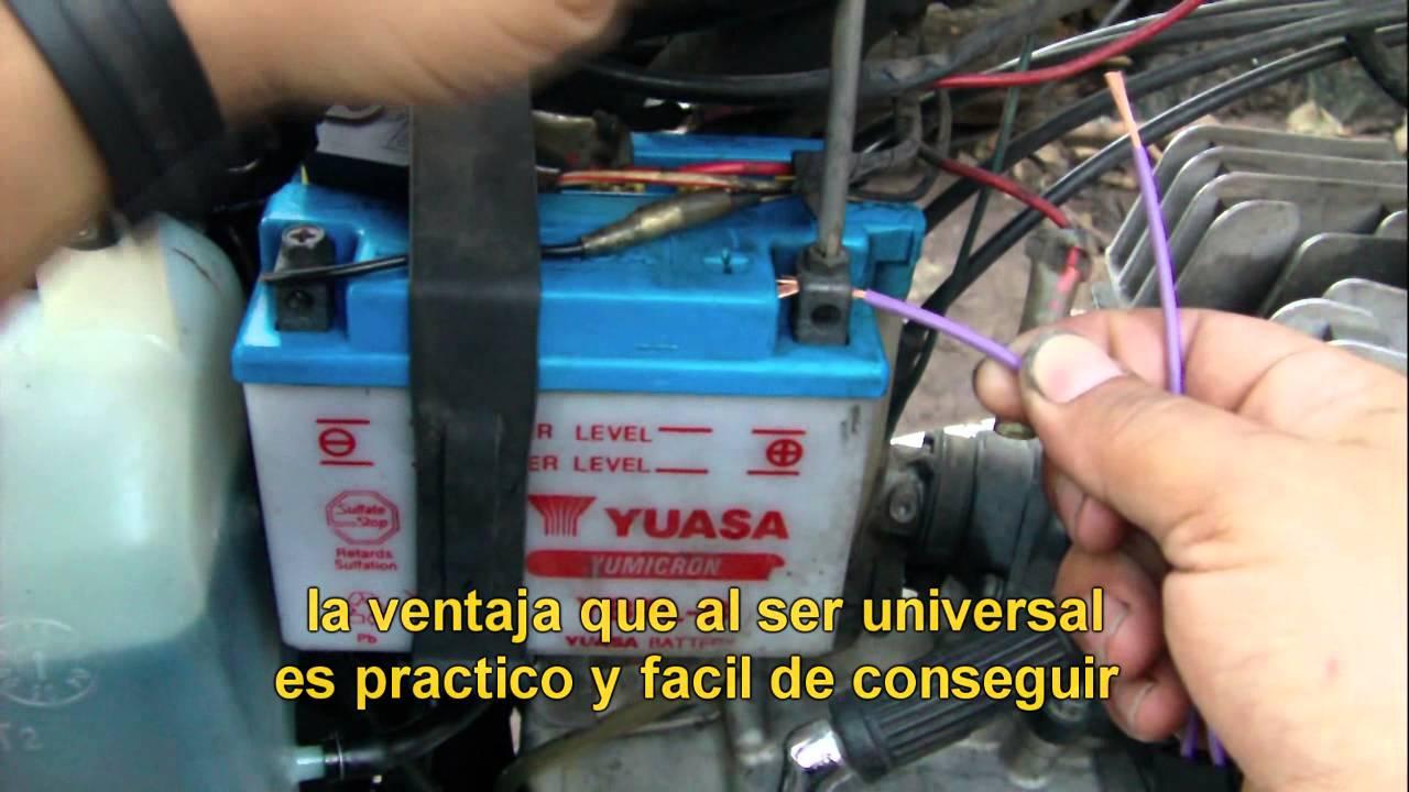 Tutorial De Instalacion Del Fusible Aereo Plano De 5a 20mm En Motos Suzuki Ax 100 Youtube