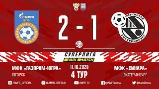 Париматч Суперлига 4 й тур Газпром ЮГРА Синара 2 1 Матч 2