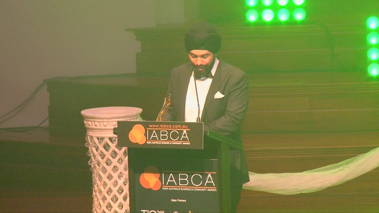 IABCA 2017 Young Community Achiever of the Year presented by H.E. Dr. A.M. Gondane