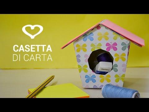 Tutorial come realizzare una casetta di carta per craft - Costruire una casetta di cartone per bambini ...