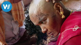 Diese Frau opfert im Tempel ihr prachtvolles Haar, später landet es in Berlin als Extensions