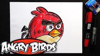 Как рисовать Злых Птичек | Урок рисования для детей Angry birds(Первую птицу рисуем Рэда. Рисуем птичек из Angry birds. Выходит мультик для детей Angry birds и я решил нарисовать..., 2016-06-03T10:00:09.000Z)