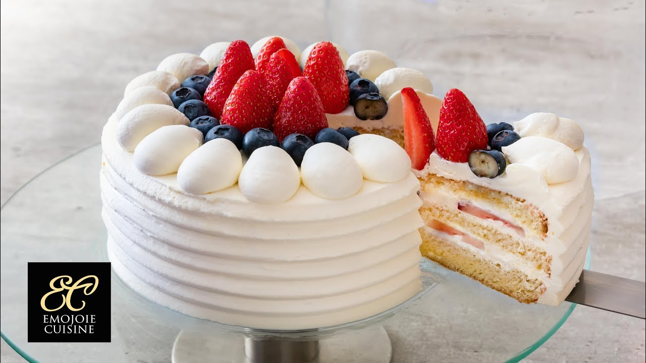 Japanese Sponge Cake Recipe Youtube: Japanese Strawberry Shortcake