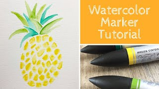 How To Paint A Pineapple With Watercolor Markers