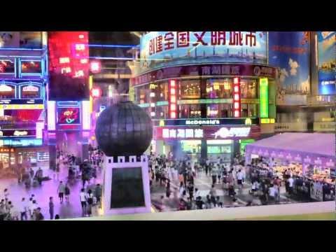 Guangzhou Shangxiajiu Lu Shopping Street HD (Fast Motion)