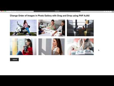 Change Order of Images in Photo Gallery with Drag and Drop using PHP AJAX