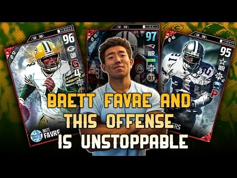 NEW ULTIMATE BRETT FAVRE IS UNSTOPPABLE! PERFECT PASSER RATING! MADDEN 17 ULTIMATE TEAM