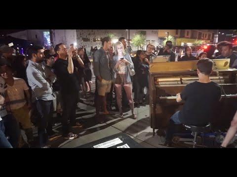 Spontaneous Street Piano Karaoke in Phoenix - John Lennon - Imagine