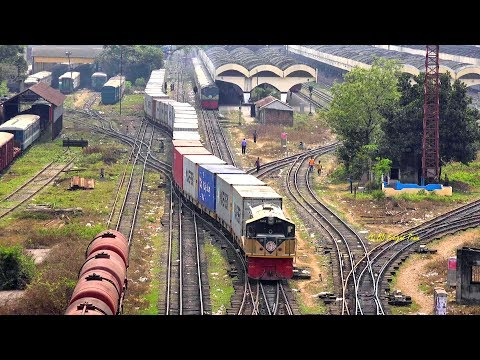 Freight Train Of Bangladesh Railway Left Kamlapur  ICD, Dhaka
